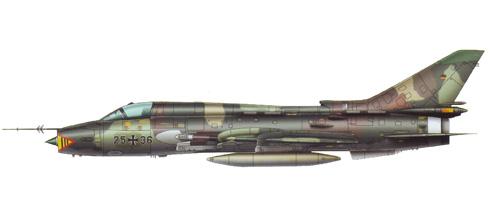 Sukhoi Su-22 M4 Fitter, Fuerza Aérea de Alemania, Base aérea de Ramstein, 1993.