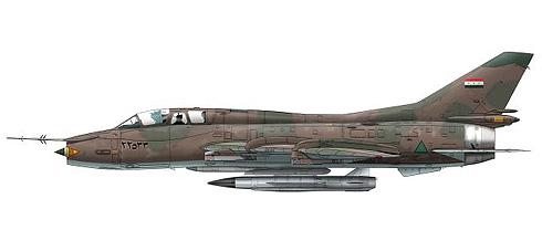 Sukhoi Su-22 UM Fitter, Fuerza Aérea de Irak, 1991.