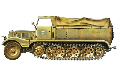 Sd. Kfz. 11, 33º Reg, Panzer de Artillería, 15ª División Panzer, 1943.