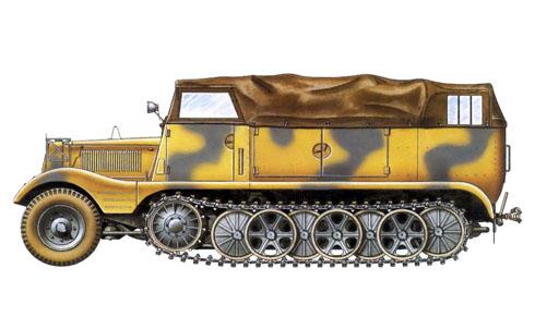 Nebelkraftwagen Sd Kfz.11 3 toneladas, unidad sin identificar, 1943.