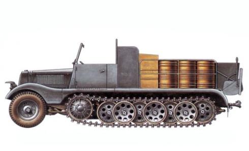 Zugkraftwagen Sd. Kfz. 11-2, vehículo de descontaminación, unidad sin identificar, 1942.