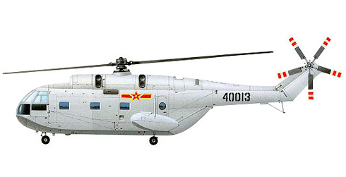 Aérospatiale SA-321, Jingdezhen Z-8 fabricado bajo licencia, pertenece a la Fuerza Aérea del Ejército Popular de Liberación.