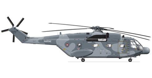 Aerospatiale SA-321 Super Frelon, perteneciente a la Marina Francesa para ataque antisubmarino.