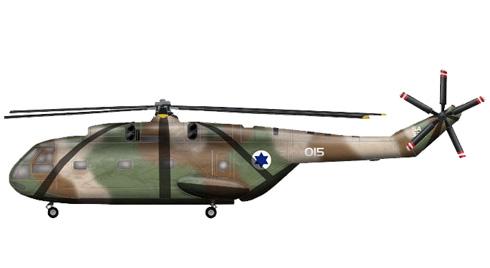 Aerospatiale SA-321G Super Frelon, Fuerza Aérea de Israel.