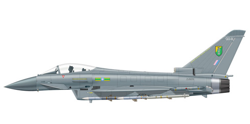 Eurofighter Typhoon, 11º Escuadrón, Base de Leuchars, Royal Air Force.