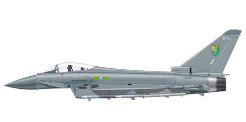 Eurofighter Typhoon, 11º Escuadrón, Base de Leuchars, Royal Air Force.