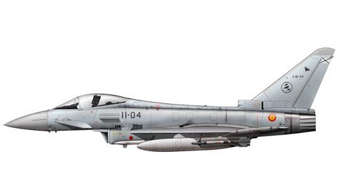 Eurofighter Typhoon, Ala nº 11, Base Aérea de Morón, Fuerza Aérea Española, 2010.