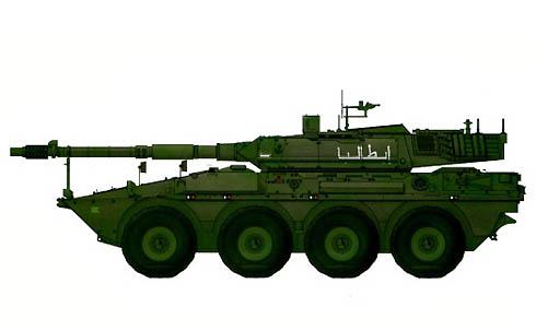 vehículo blindado B41 Centauro, 19º Reggimento 'Cavalleggeri Guide', Nassiria, Irak, 2004.