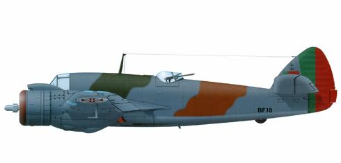 Bristol Beaufighter de la 8ª Escuadrilla de la Fuerza Aérea de la Armada Portuguesa, 1945.