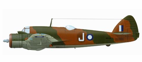 Bristol Beaufighter del 30º Escuadrón de la Real Fuerza Aérea Australiana, Port Moresby, 1943.