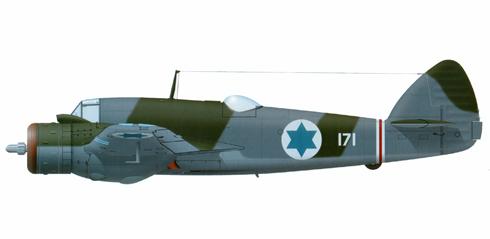 Bristol Beaufighter perteneciente al 103º Escuadrón de las Fuerzas de Defensa de Istael- Fuerza Aérea, 1948.