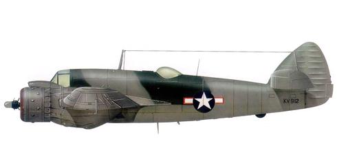 Bristol Beaufighter VIF del 416º Escadrón de ataque nocturno, USAF, 1944.