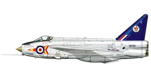 English Electric - BAC Lightning F.2 del 92º Escuadrón de la RAF, Leconfield, 1963.