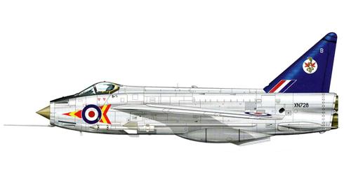 English Electric - BAC Lightning F.2 del 92º Escuadrón de la RAF, Leconfield, 1963.