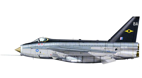 English Electric - BAC Lightning F.6, 11º Escuadrón de la RAF, Binbrook, 1987.