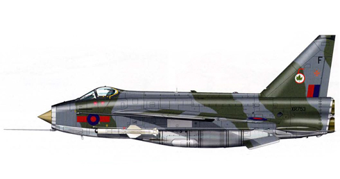 English Electric - BAC Lightning F.6 del 5º Escuadrón de la RAF, Akrotiri, Chipre, 1983.