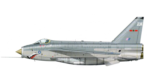 English Electric - BAC Lightning F.6 perteneciente al 5º Escuadrón de la RAF, Binbrook, 1987.