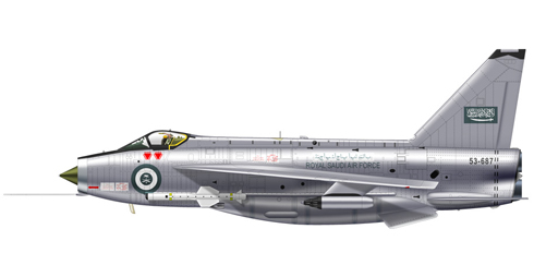 English Electric - BAC Lightning F Mk.53, Fuerza Aérea de Arabia Saudí, 1970.