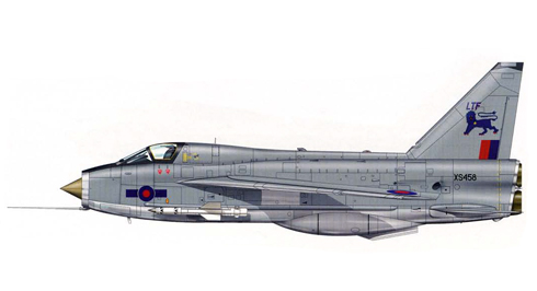 English Electric - BAC Lightning T.5, entrenador de vuelo, Royal Air Force, Binbrook, 1984.