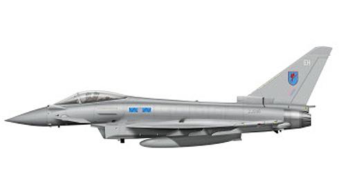 Eurofighter Typhoon perteneciente al 6º Escuadrón de la RAF, Base de Leuchars,