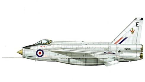 English Electric - BAC Lightning F.2A, 92º Escuadrón de la RAF, Gütersloh, Alemania, 1970.