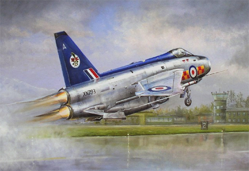 English Electric - BAC Lightning F 2A, 92º Escuadrón de la RAF, Gütersloh, Alemania, 1973.