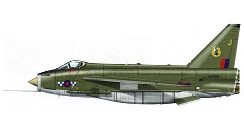 English Electric - BAC Lightning perteneciente al 19º Escuadrón de la RAF con base en Gütersloh, 1975.
