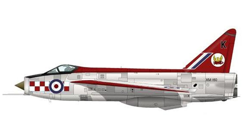 English Electric Lightning F1A del 56º Escuadrón, Royal Air Force, Wattisham, 1963.