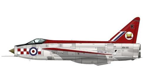 English Electric Lightning F1A del 56º Escuadrón, Royal Air Force, Wattisham, 1963.