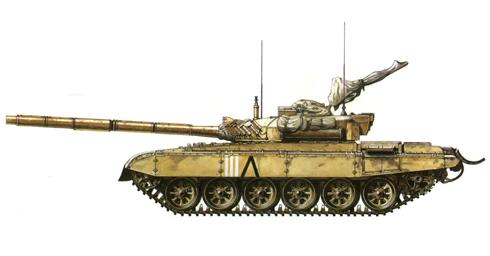 M-84 A Construido bajo licencia en la antigua Yugoslavia Kuwaití, 35ª Brigada Fatah, Gerra del Golfo, 1991.