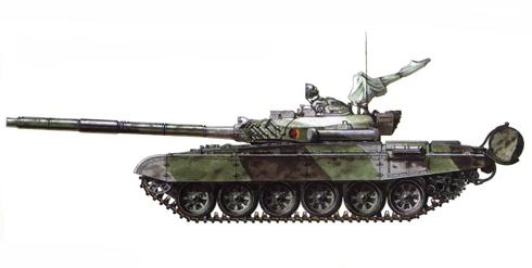 T-72 M del 4º Batallón, MSR Rudolph Renner, 9ª División, República Democrática Alemana, 1990.