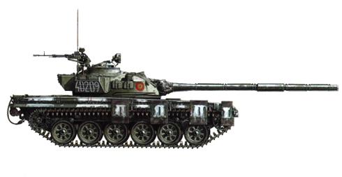 T-72 perteneciente a la 57ª División de tanques, 1er. Regimiento, Tirgoviste, Rumanía, 1991.