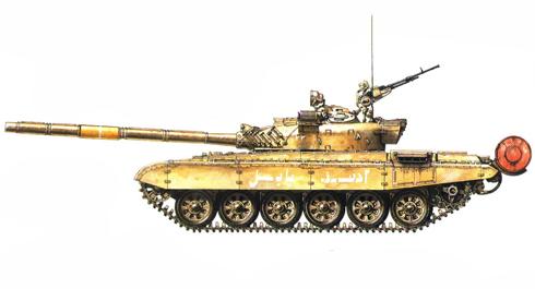 T-72 M Iraquí, 2º Rgimiento, 12ª Brigada Acorazada, 3ª División Acorazada Saladin, Kuwait, 1991.