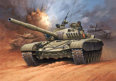 T-72 M1 de la República Democrática Alemana, 1989.