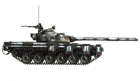 Tanque T-72 perteneciente a la Brigada acorazada Klapka, 1er. Cuerpo mecanizado Húngaro, Hungría, 1985.