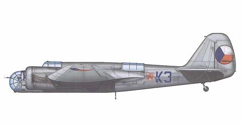 Avia B-71A Checoslovaco del 6º Regimiento de Bombarderos, Praga, 1938.