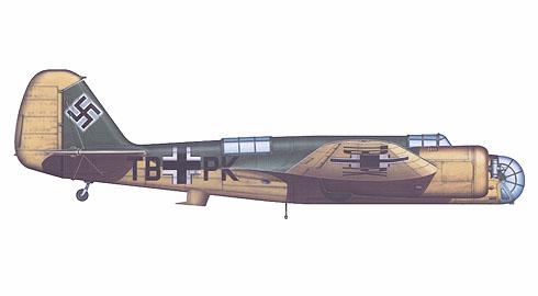 Este B-71A ex-Checoslovaco capturado y marcado por la Luftwaffe usado como entrenador, Alemania, 1940.