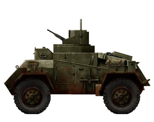 Hamber Mk.I antiaéreo equipado con ametralladoras BESA de 7,92 mm, Gran Bretaña, 1942.
