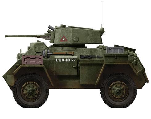 Humber Mk.IV, unidad británica 'Laughing Boy III', Holanda, 1944.