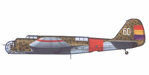 Túpolev SB-2M Katiuska, del 24º Grupo, Fuerza Aérea Republicana, España, 1936.