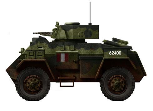 Vehículo blindado Canadiense Humber Mk.II, 1944.
