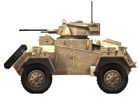 Vehículo blindado Humber, Ejército Británico, Norte de África, 1941.