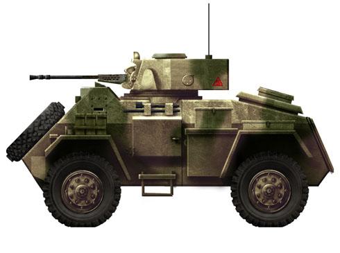 Vehículo blindado Humber Mk.II, Italia, 1944.