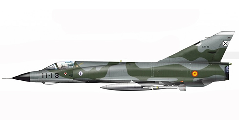Dassault Mirage III EE, Ala de Caza nº 11, Fuerza Aérea Española, Base Aérea de Manises, 1980.