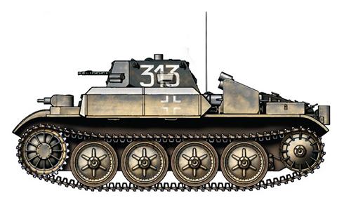 PzKpfw II Flamm Sd.Kfz.122 Modelo D lanzallamas, 101º Regimiento Panzer, Frente del Este, 1941.