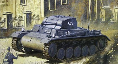 PzKpfw II Sd.Kfz.121 Modelo B, invasión de Polonia, 1939.