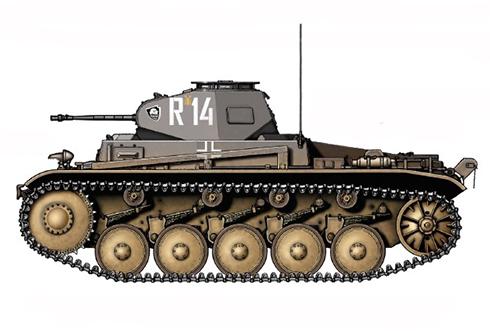 PzKpfw II Sd.Kfz.121 Modelo C, 18º Regimiento Panzer, 18ª División Panzer, Polonia, 1941.