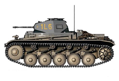 PzKpfw II Sd.Kfz.121 Modelo C, 36º Regimiento Panzer, 14ª División Panzer, Frente del Este, 1941.