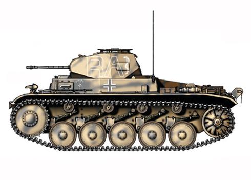 PzKpfw II Sd.Kfz.121 Modelo C, 5º Regimiento Panzer, 5ª División Leichte, Líbia, 1941.