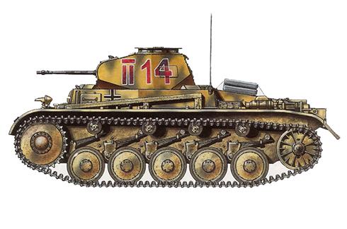 PzKpfw II Sd.Kfz.121 Modelo C, unidad sin identificar, zona de Mosdok, Caucaso, verano de 1942.